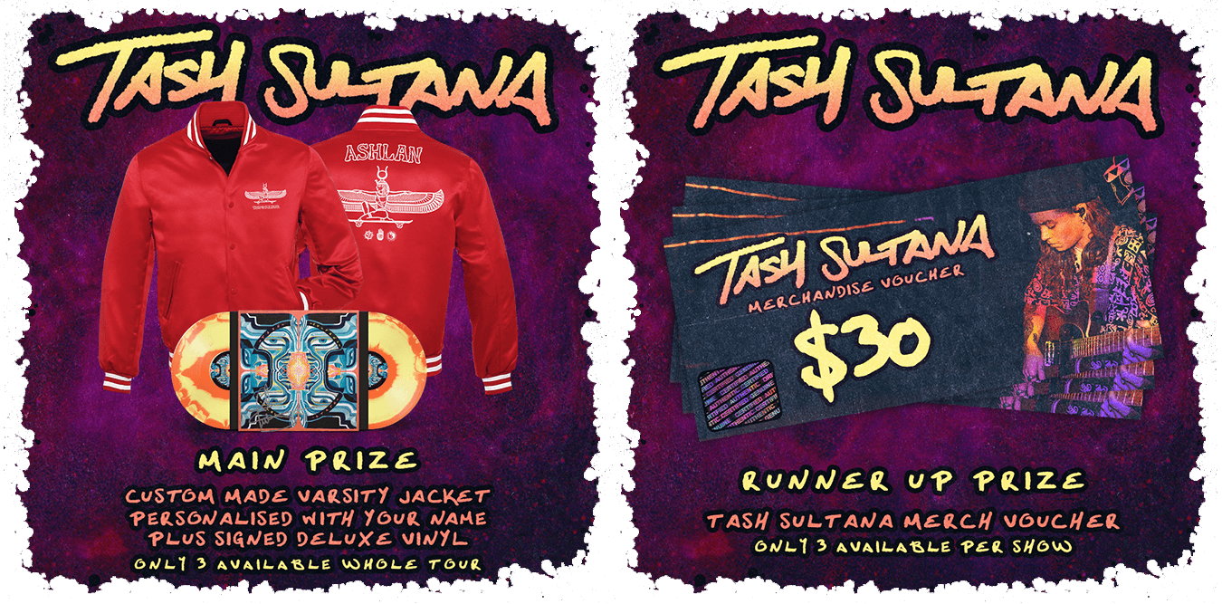 5eeffd1f8 Tunespeak / Register for Tash Sultana's North America 2019 Tour Presale &  Enter to Win $30 Merch Vouchers and a Custom Varsity Jacket + Signed Vinyl